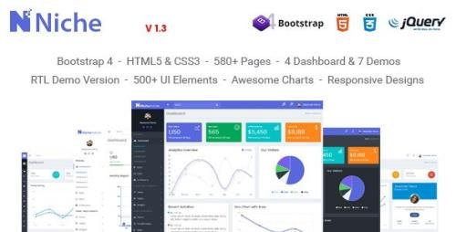 ThemeForest - Niche v1.3 - Powerful Bootstrap 4 Dashboard and Admin Template - 20955722