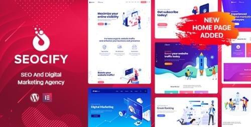ThemeForest - Seocify v2.4 - SEO Digital Marketing Agency WordPress Theme - 22613339