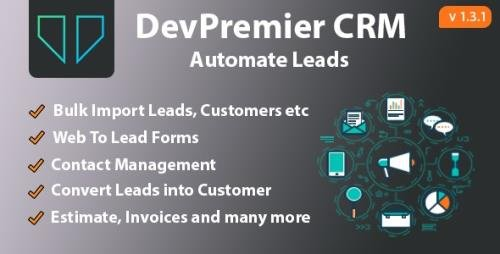 CodeCanyon - DevPremier CRM v1.3.1 - Convert Leads into Customers - 28132685