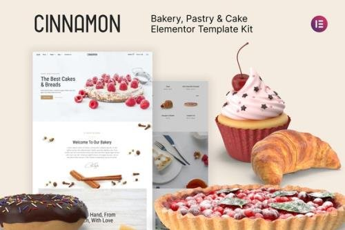 ThemeForest - Cinnamon v1.0.0 - Bakery & Pastry Shop Elementor Template Kit - 29838563