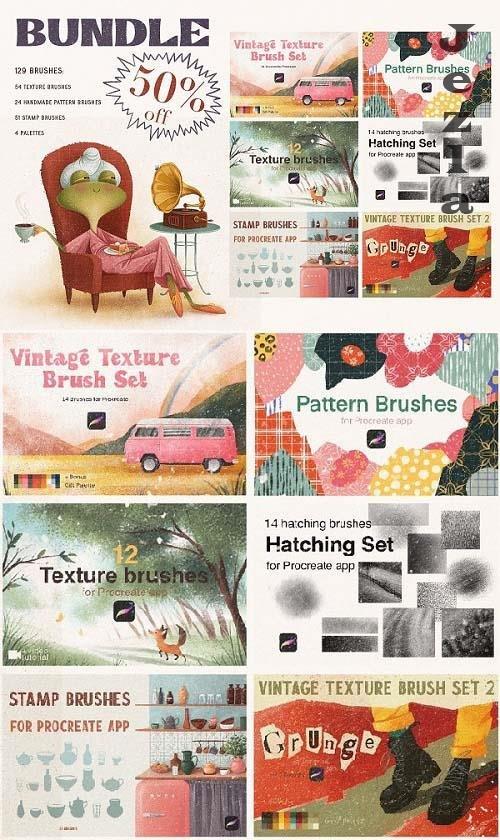 CreativeMarket - BUNDLE. Brushes for Procreate - 5634586