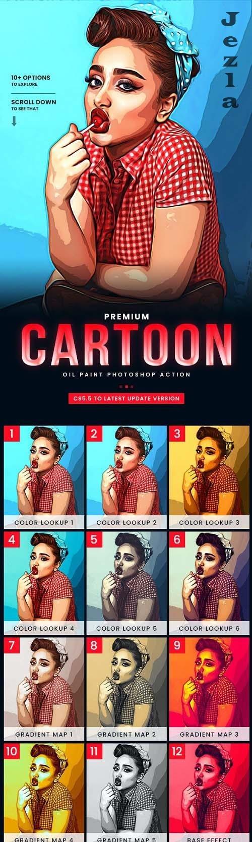 GraphicRiver - Cartoon Maker Photoshop Action 29625182
