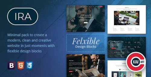 ThemeForest - Creative One Page HTML Template - IRA v0.2 - 21589502