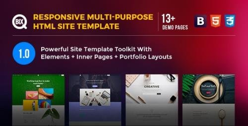 ThemeForest - Qbix v1.0 - Responsive Multi-Purpose HTML Site Template - 23036315