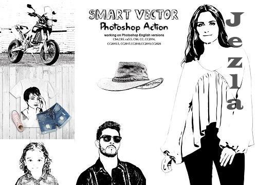 CreativeMarket - Smart Vector Photoshop Action 5670471