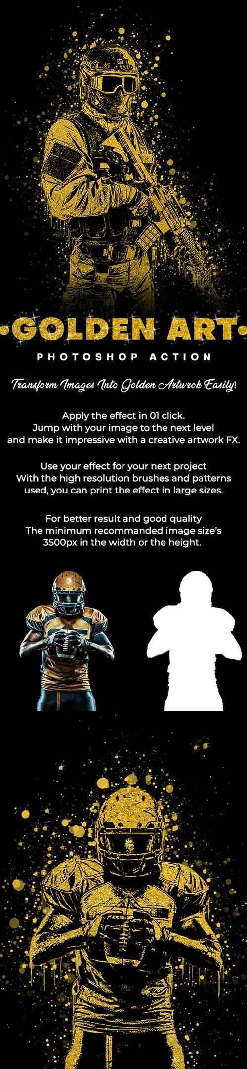 GraphicRiver - Golden Art Photoshop Action 29666591