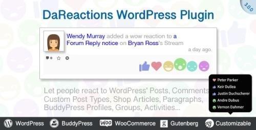 CodeCanyon - DaReactions v3.12.8 - Reactions WordPress Plugin - 22307601