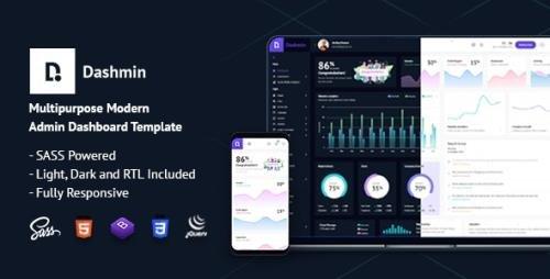ThemeForest - Dashmin v1.0 - Responsive Admin Dashboard Template - 29071668