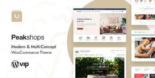 ThemeForest - PeakShops v1.4.2 - Modern & Multi-Concept WooCommerce Theme - 26312835 -