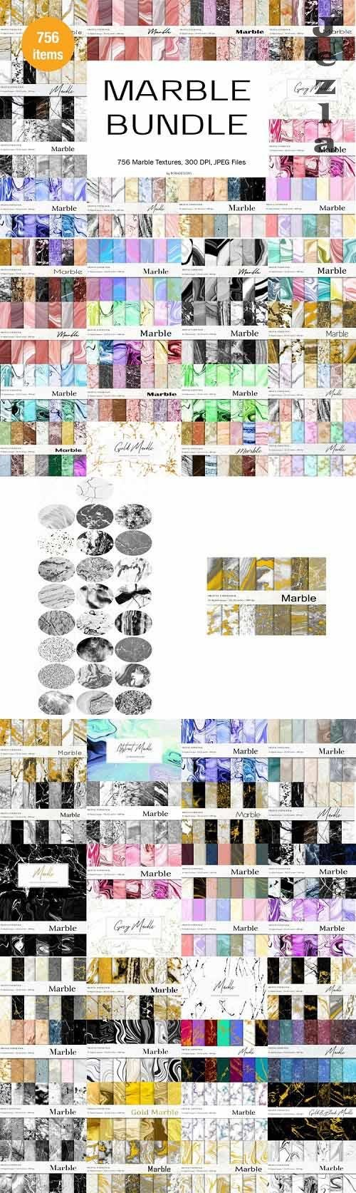 Marble Textures Bundle, Marble Backgrounds - 1133473