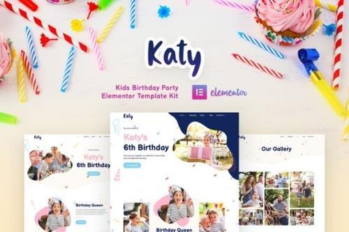 ThemeForest Katy v1.0.0 - Kids Birthday Party Planner & Invitation Elementor Template Kit - 29885473