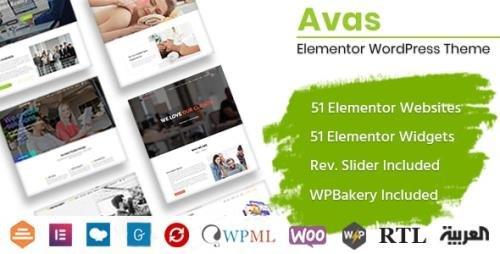 ThemeForest - Avas v6.1.24 - Elementor WordPress Theme - 19775390 -