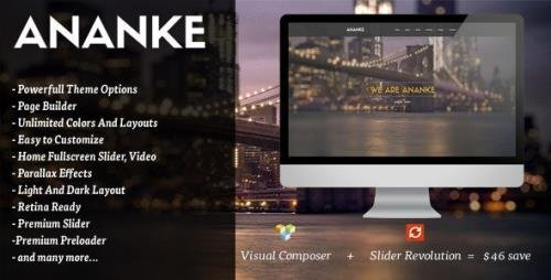ThemeForest - Ananke v3.8.6 - One Page Parallax WordPress Theme - 9631763