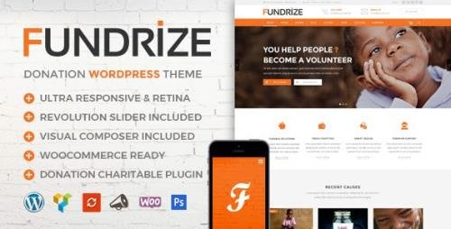 ThemeForest - Fundrize v1.15 - Responsive Donation & Charity WordPress Theme - 20971587
