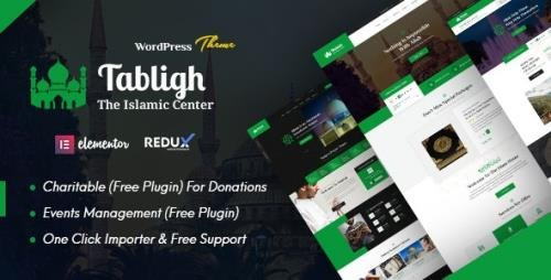 ThemeForest - Tabligh v1.0 - Islamic Institute & Mosque WordPress Theme - 29880812