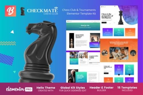 ThemeForest - CheckMate v1.0.0 - Chess Club & Tournaments Elementor Template Kit - 29880542