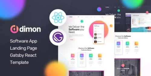 ThemeForest - Dimon v1.0 - Gatsby React App Landing Page Template - 29796340