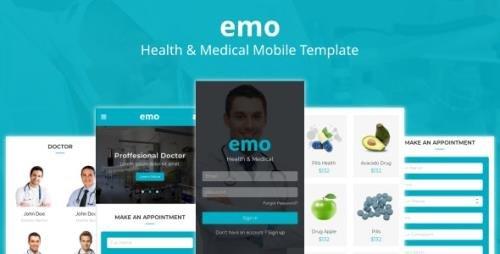 ThemeForest - Emo v1.0 - Health & Medical Mobile Template - 23052651