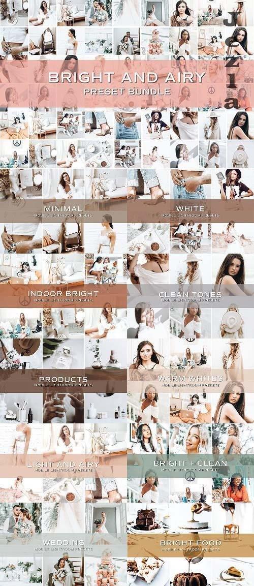 CreativeMarket - 50 Bright Lightroom Preset Bundle 5701804