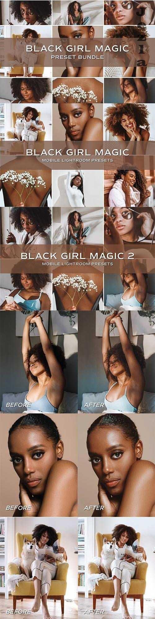 CreativeMarket - 10 Dark Skin Lightroom Presets 5701802
