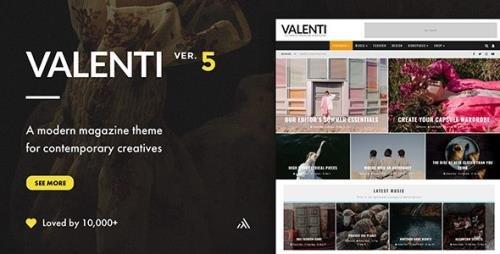 ThemeForest - Valenti v5.6.2 - WordPress HD Review Magazine News Theme - 5888961