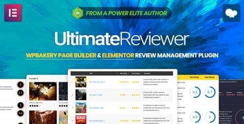 CodeCanyon - Ultimate Reviewer v2.8.1 - Elementor WPBakery Page Builder Addon - 23101267