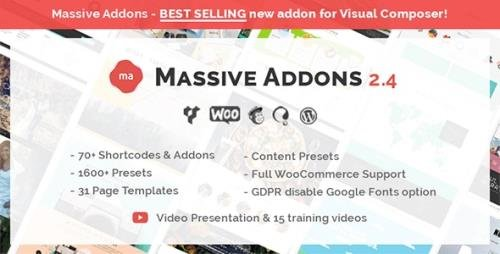 CodeCanyon - Massive Addons for WPBakery Page Builder v2.4.8 - 14429839