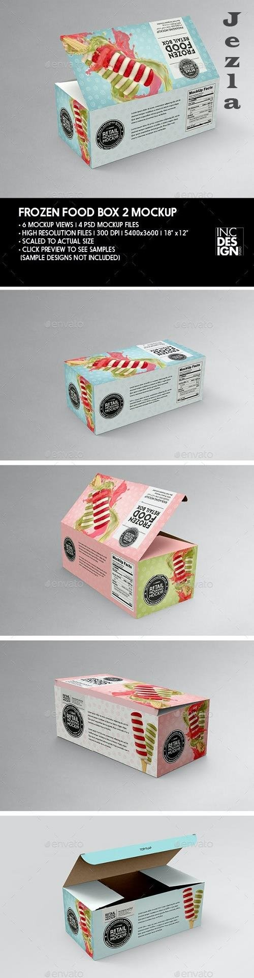GraphicRiver - Big Frozen Food Box Packaging Mockup 29889156