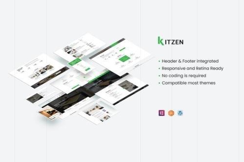 ThemeForest - Kitzen v1.0.1 - Modern Kitchen Elementor Template Kit - 29934539