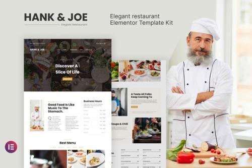 ThemeForest - Hank & Joe v1.0.0 - Elegant Restaurant Elementor Template Kit - 29932166