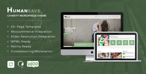 ThemeForest - Humansave v1.0.0 - Responsive Nonprofit Charity WordPress Theme (Update: 4 September 17) - 19350481