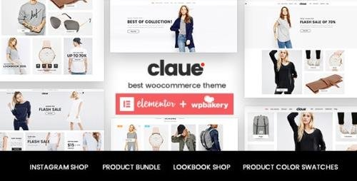 ThemeForest - Claue v2.0.9 - Clean, Minimal Elementor WooCommerce Theme - 18929281