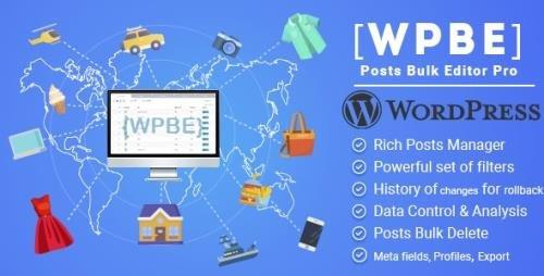 CodeCanyon - WPBE v2.0.3 - WordPress Posts Bulk Editor Professional - 24376112