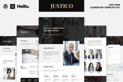ThemeForest - JUSTICO v1.0.0 - Law Firm Elementor Template Kit - 29751800
