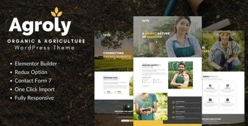 ThemeForest - Agroly v1.0 - Organic & Agriculture Food WordPress Theme (Update: 4 January 21) - 28996955