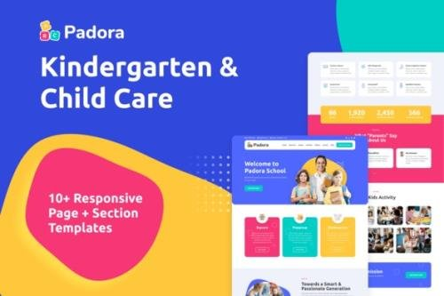 ThemeForest - Padora v1.0.0 - Kindergarten & Child Care Elementor Template Kit - 29797880