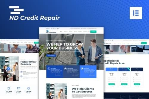 ThemeForest - ND Credit Repair v1.0.0 - Finance Company Elementor Template Kit - 29283585