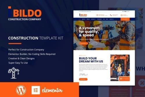 ThemeForest - Bildo v1.0.0 - Construction Elementor Template Kit - 29592908