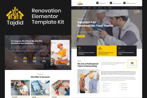 ThemeForest - Tajdid v1.0.0 - Renovation Elementor Template Kit - 29944027