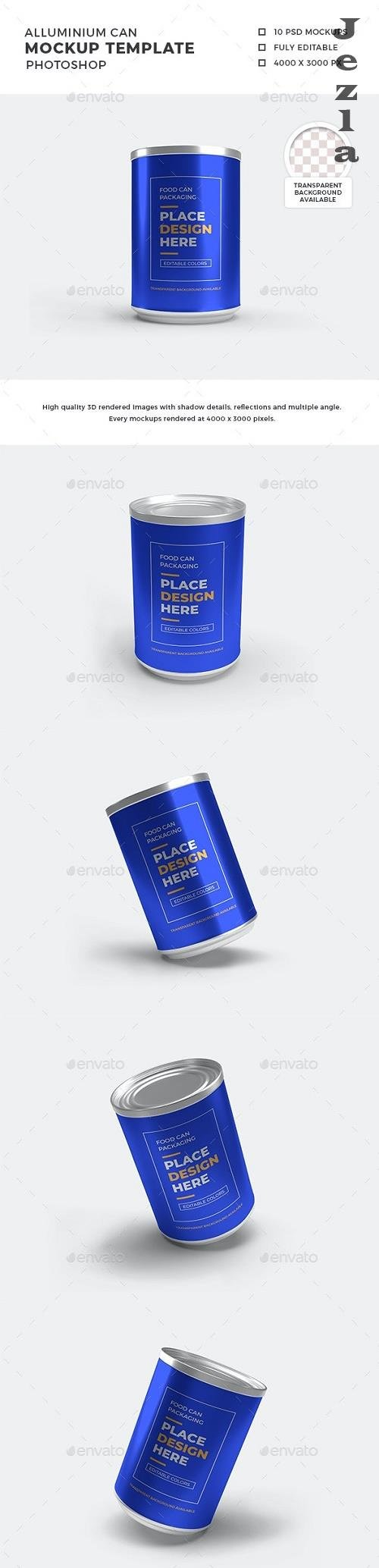 Alluminium Can Packaging Mockup Template Set - 29925143