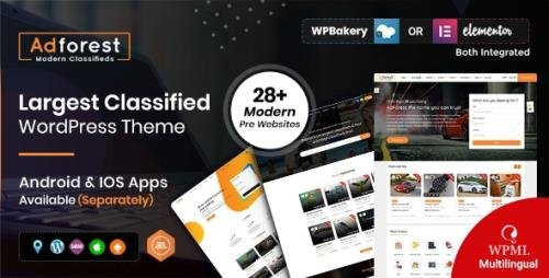 ThemeForest - AdForest v4.4.3 - Classified Ads WordPress Theme - 19481695 - NULLED