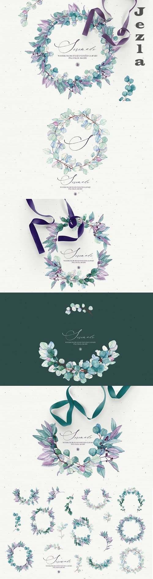 Serenade - watercolor floral set - 5760618