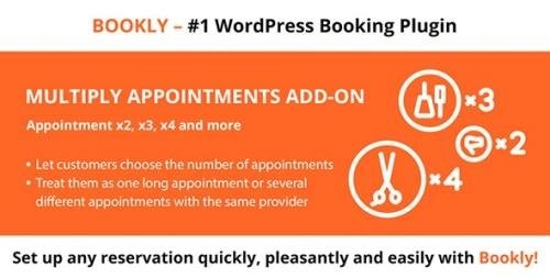CodeCanyon - Bookly Multiply Appointments (Add-on) v2.2 - 17457141