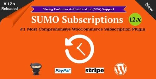 CodeCanyon - SUMO Subscriptions v12.4 - WooCommerce Subscription System - 16486054