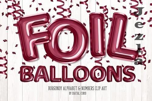 Burgundy Foil Balloon Alphabet - 5757908