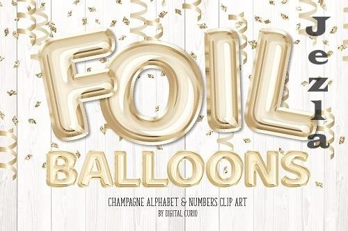 Champagne Foil Balloon Alphabet - 5757911