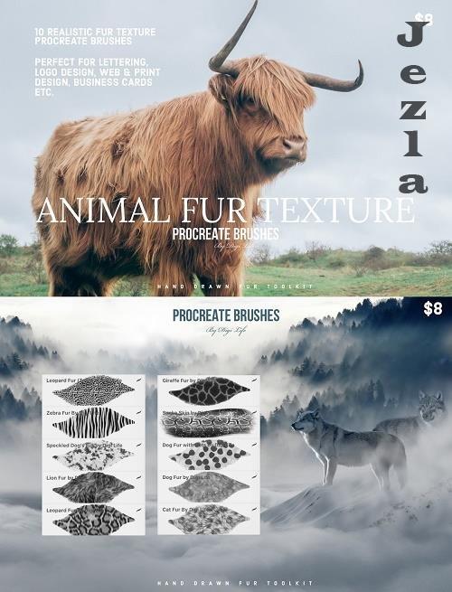Animal Fur Texture Procreate Brushes 5445462