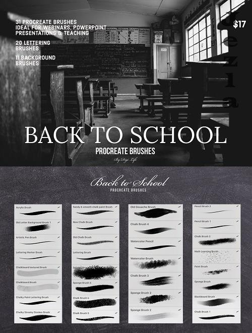 Back to School Procreate Brushes - 5333376