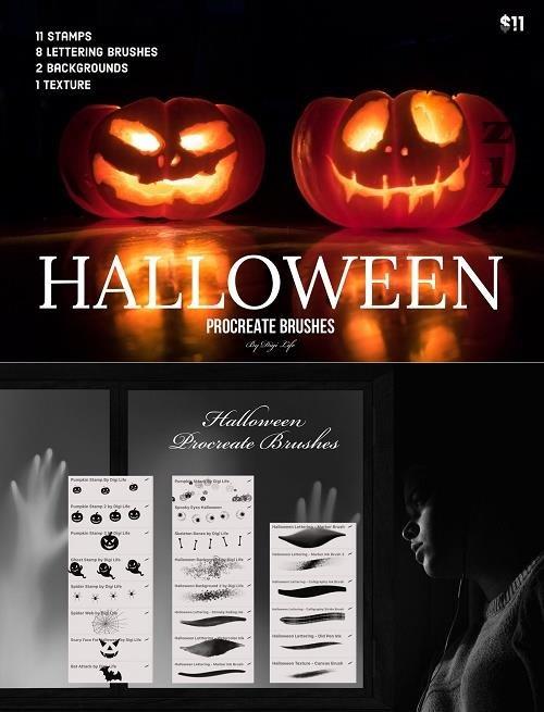 Halloween Procreate Brushes - 5426575