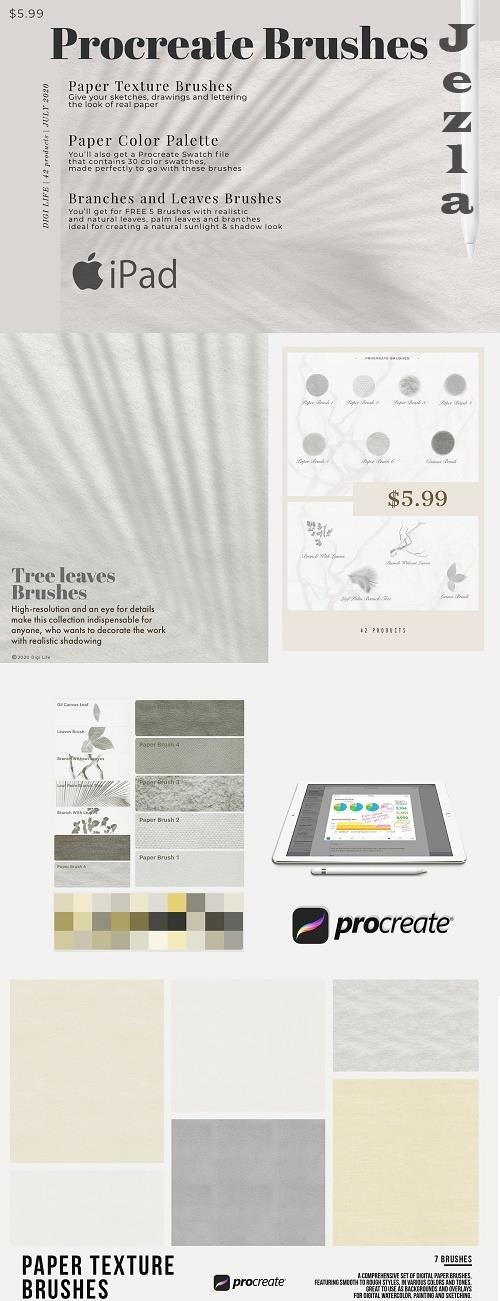 Procreate Paper Brush Kit - 5134857